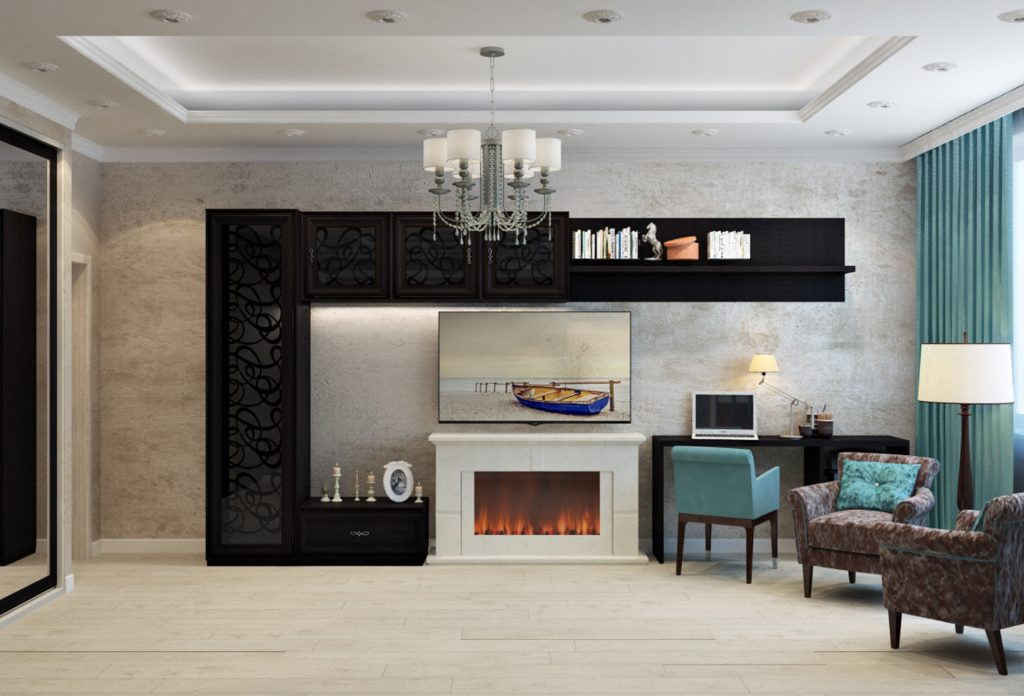 A downsized fireplace for the perfect touch to make your living room feel warm and welcoming