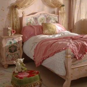 pink bohemian bedroom